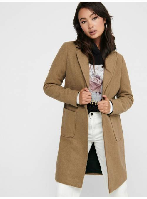 COAT FEM WOV PL70/WO30 - BROWN -