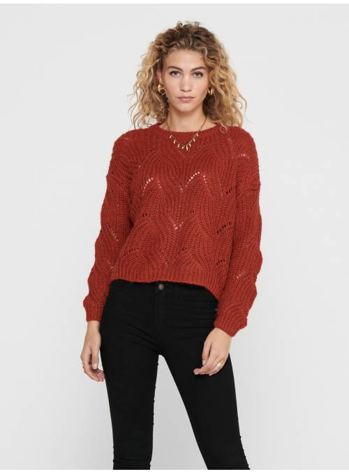 PULLOVER FEM KNIT PC75/NYL25 - RED -