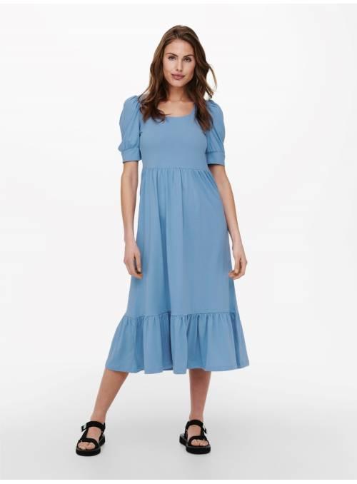 DRESS FEM KNIT CO100 - BLUE -