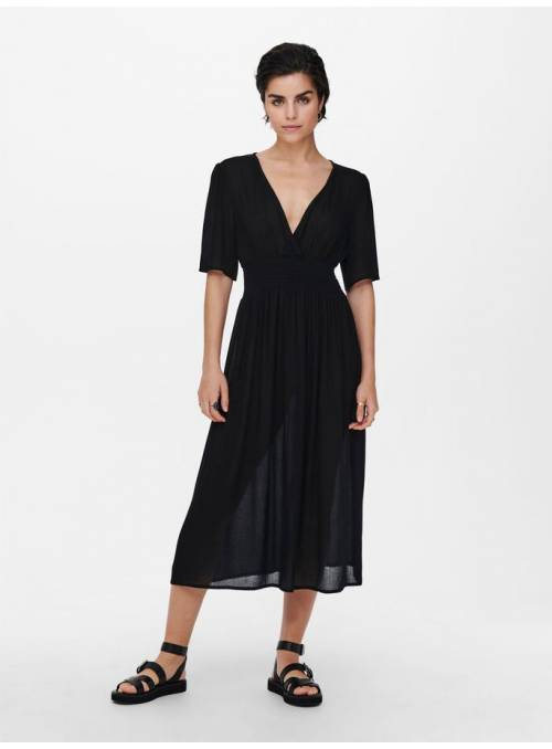 DRESS FEM WOV VI100 - BLACK -