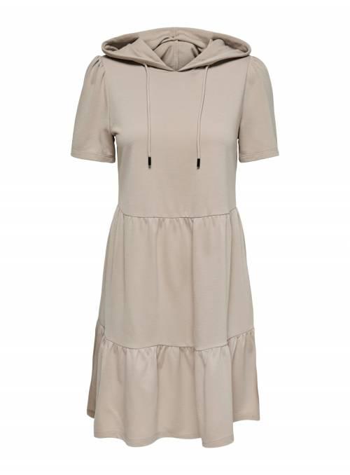DRESS FEM KNIT PL65/VI35 - WHITE -