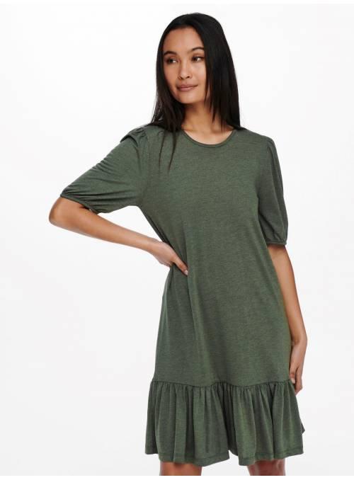 DRESS FEM KNIT MD50/PL50 - GREEN - MELAN
