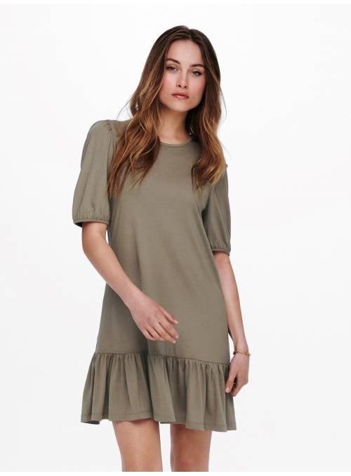URBAN GABRIELLA S/S DRESS- BROWN -
