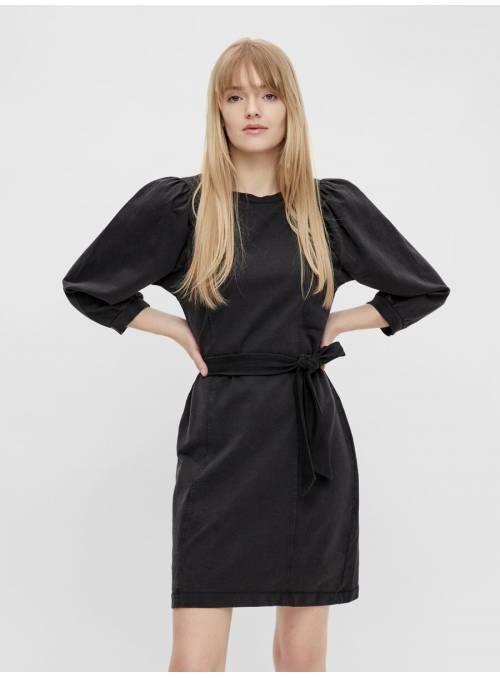 DRESS FEM CO100 - BLACK -