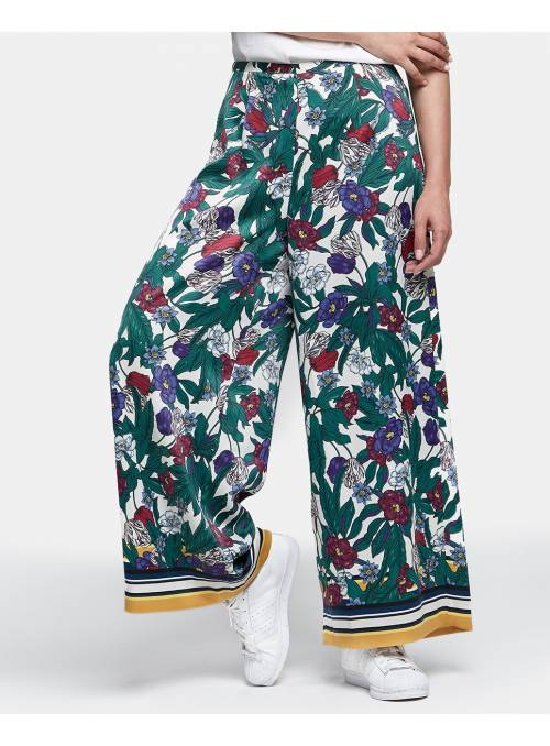 PANTS FEM WOV PL100 - GREY - FLOWER FUSI