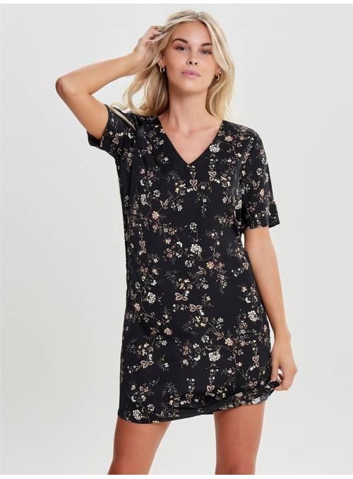DRESS BLACK - SMALL FLOW