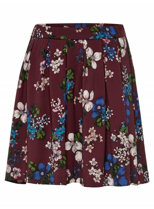 SKIRT FEM WOV PL98/EA2 - PURPLE - HARLEM