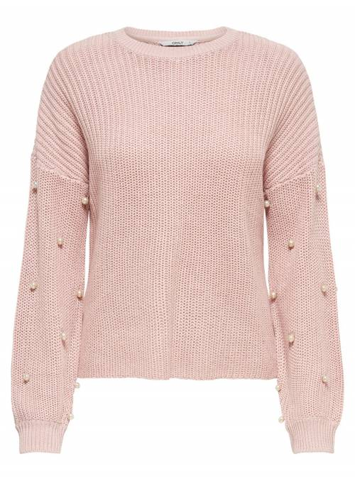 PULLOVER FEM KNIT PC50/CO50 - ROSE -