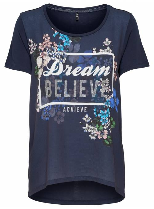 T-SHIRT FEM KNIT CO100 - BLUE - DREAM1