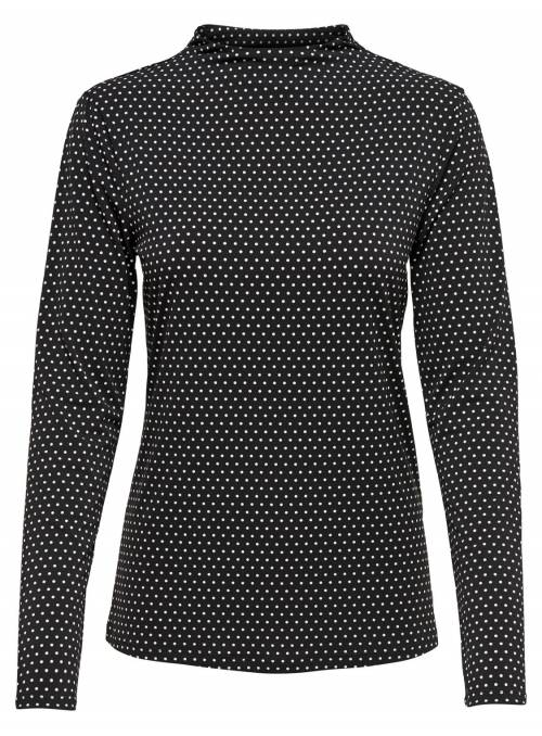 BLOUSE BLACK DOTS