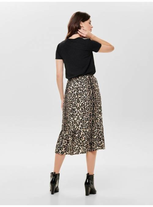 SKIRT FEM WOV PL100 - BROWN - LEO
