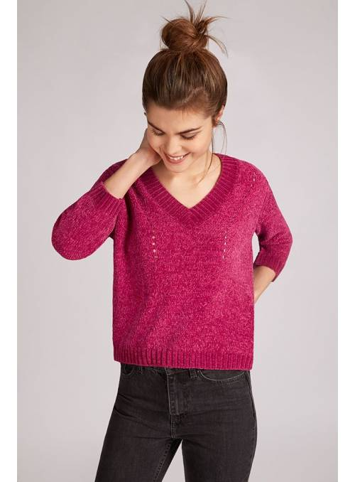 PULLOVER FEM KNIT PL100 - PURPLE -