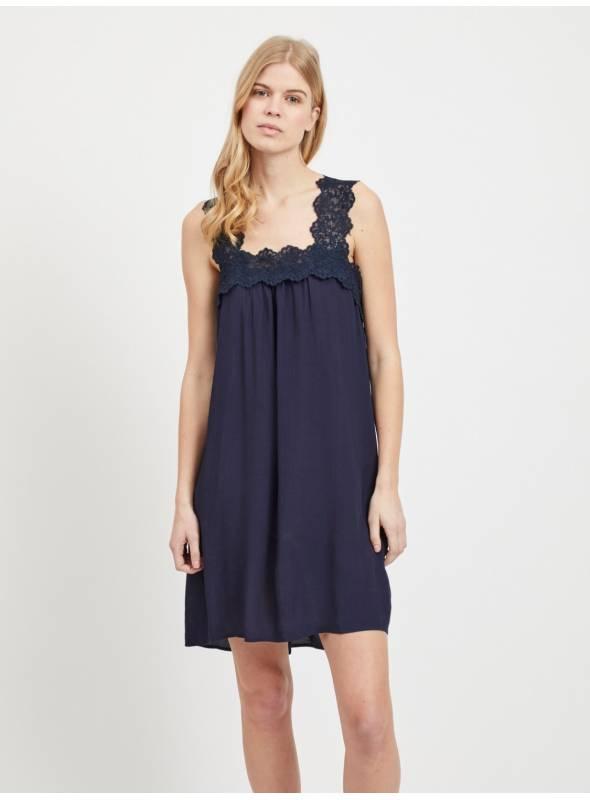 DRESS FEM WOV VI100 - BLUE -