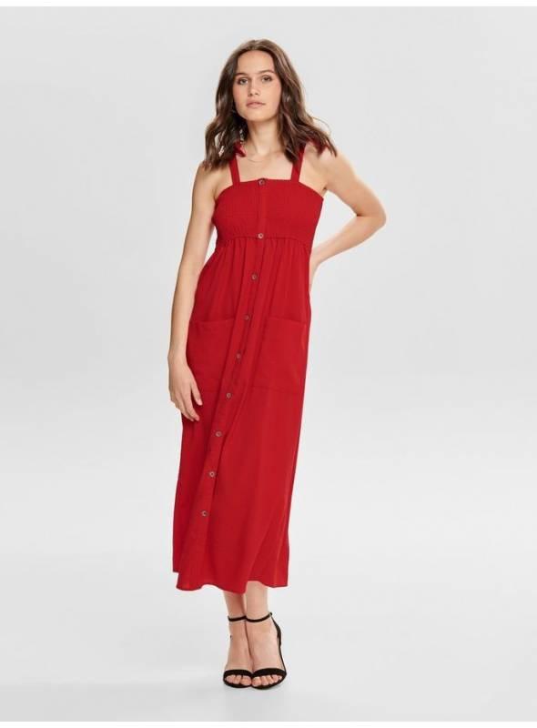 DRESS FEM WOV CO100 - RED -