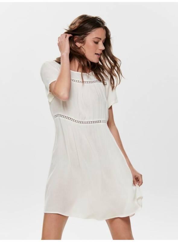 DRESS FEM WOV VI100 - WHITE - DTM LACE