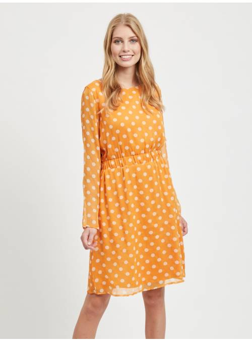 DRESS DOT MOSTAZA