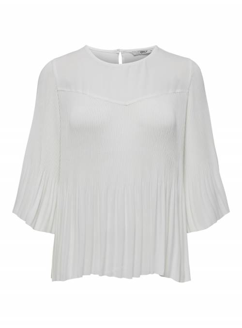 BLOUSE - PLISADA - WHITE