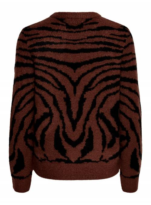 PULLOVER FEM KNIT PC75/NYL22/EA3 - BROWN