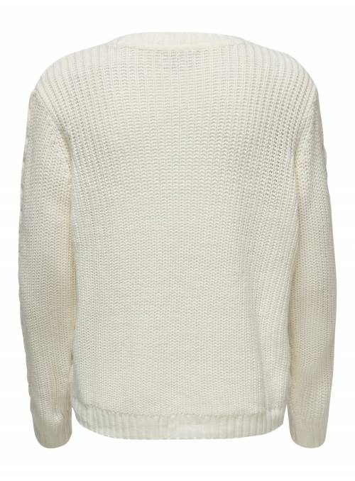 PULLOVER FEM KNIT PC100 - WHITE -