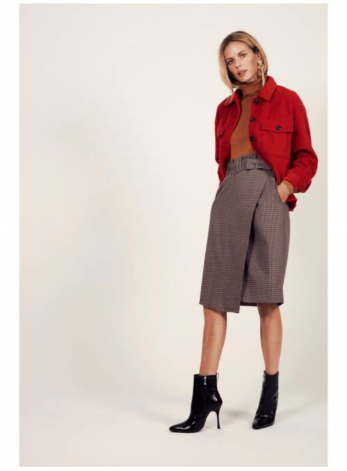 SKIRT FEM WOV PL67/VI31/EA2 - RED - PRIS