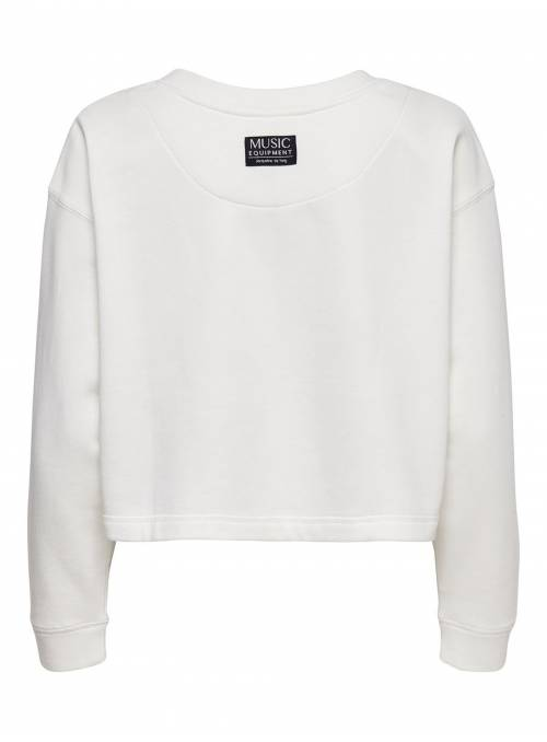 SWEAT FEM KNIT CO60/PL40 - WHITE - COKE_
