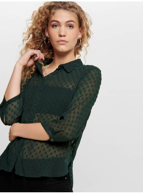 SHIRT - WITH SLEEVES FEM WOV PL100 - TUR