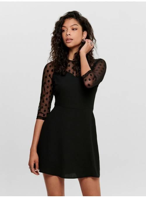 DRESS FEM WOV NYL100 - BLACK -