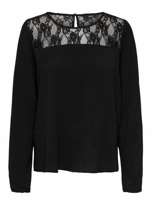 BLOUSE - LACE BLACK