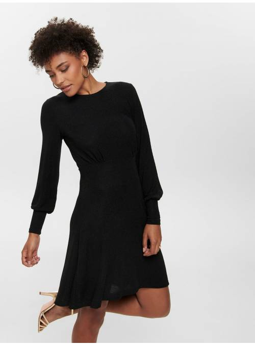 DRESS FEM KNIT BLACK -