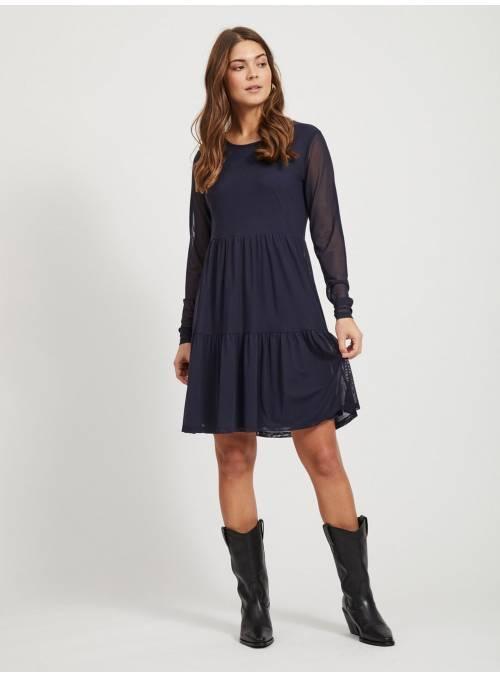 DRESS FEM KNIT POA95/EA5 - BLUE -