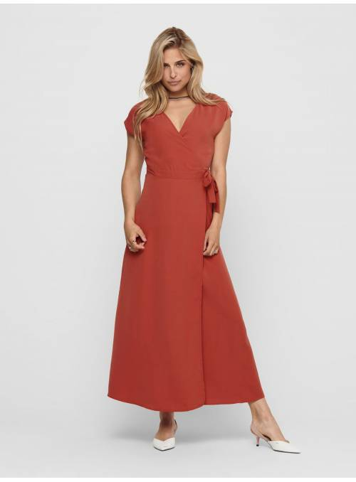 DRESS FEM WOV PL100 - RED -