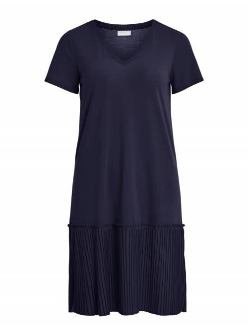 DRESS PLISADO - BLUE -