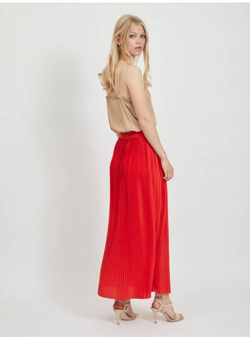 SKIRT FEM KNIT PL65/VI35 - RED -