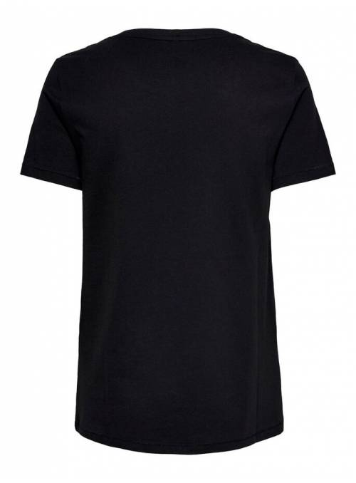 T-SHIRT FEM KNIT OCO100 - BLACK - BONJOU