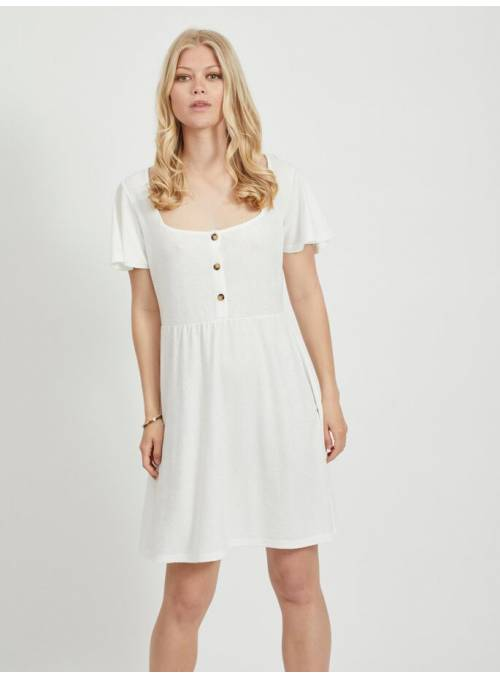 DRESS BUTTON - WHITE -