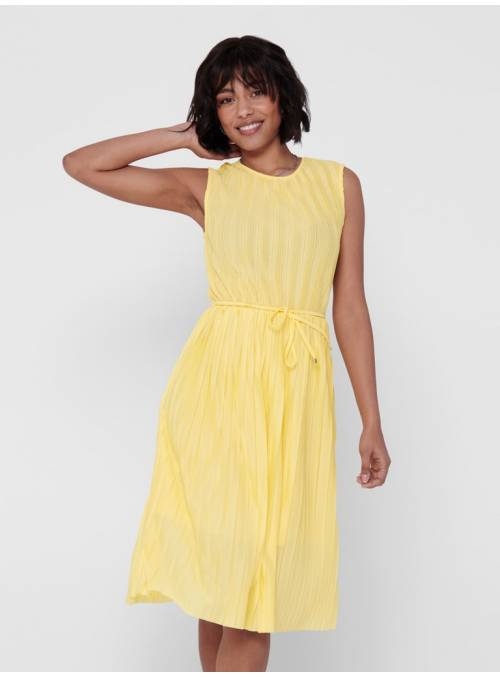 DRESS PLISADO CITRON