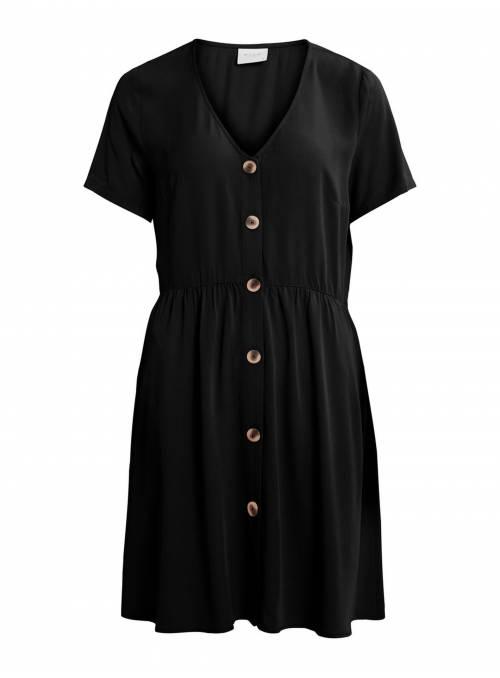 DRESS FEM WOV VLE100 - BLACK -