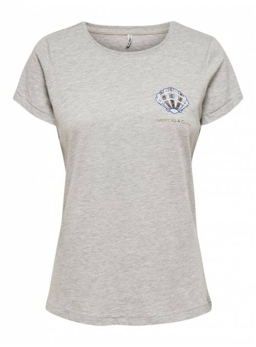T-SHIRT FEM KNIT OCO100 - GREY - CLAM
