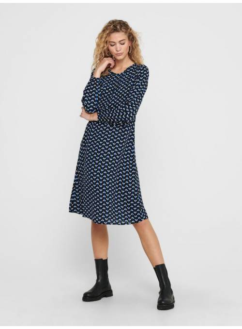 DRESS FEM WOV PL100 - BLACK - SURF THE W
