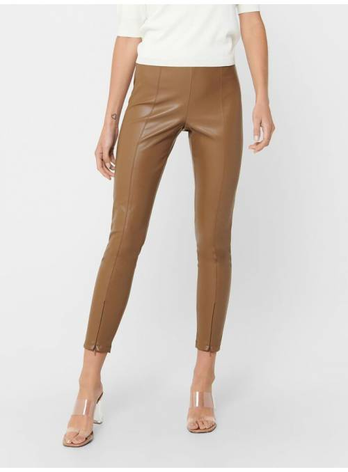 LEGGINS POLIPIEL ONLY MARRON